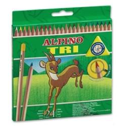 Lápices de colores Alpino 24