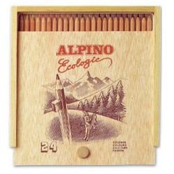 Lápices de colores Alpino Caja Madera 24