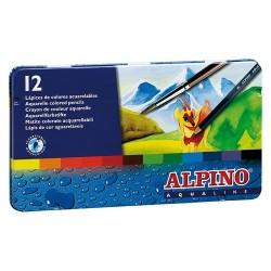 Lápices Acuarelables Alpino 12