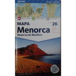 Mapa Menorca. Reserva de Biosfera