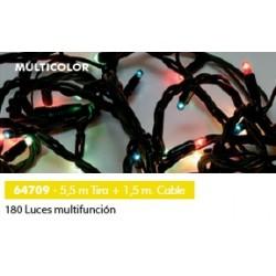 180 microluces multifunción colores