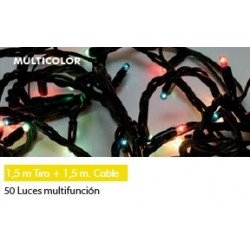 50 microluces multifunción colores