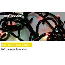 100 microluces multifunción colores