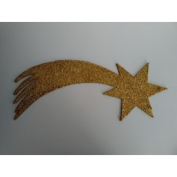 Estrella Fugaz dorada 42cm