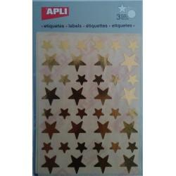 Gomets Apli Estrellas Doradas