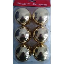 Bolas Doradas Brillantes 6cm (6 unidades)