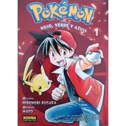 Pokémon. Rojo, verde y azul Castellano. Tomo 1 a 2
