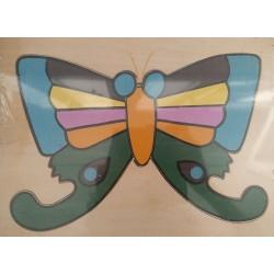 Puzzle mariposa 13 piezas