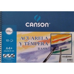 Bloc Acuarela y Témpera A4 370g Canson