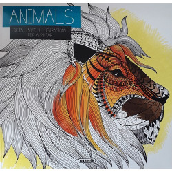 Animales. Detallades il·lustracions per a pintar