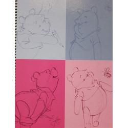 Cuadro 5x5 Tapa Dura Winnie The Pooh