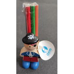 Cubilete Pirata con lápices de colores