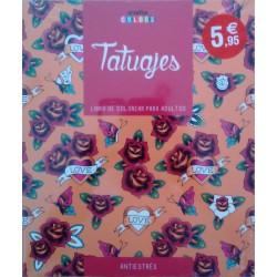 Tatuajes. Horas de placer y relajación: Libro de colorear para adultos