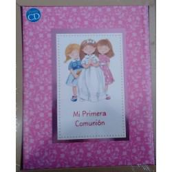 Libro comunión elegance rosa