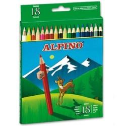 Lápices de colores Alpino 18
