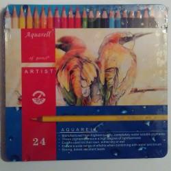 Lápices Acuarelables Aquarell Artist 24