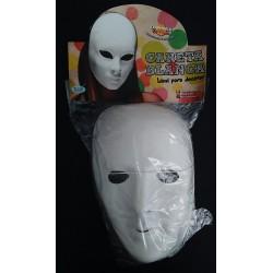 Máscara rígida blanca