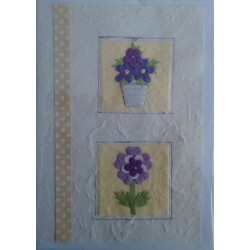 Postal Natural maceta y flor