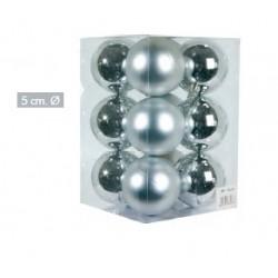 Bolas Plateadas 5cm (12 unidades)