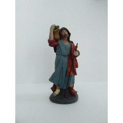 Pastor con víveres 15cm Marmolina