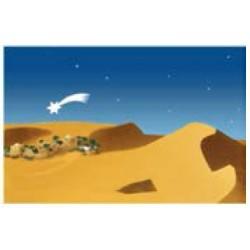 Fondo Belén paisaje y estrella