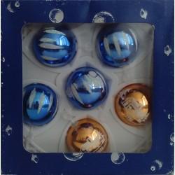 Bolas Azul y Dorado 5cm (6 unidades)