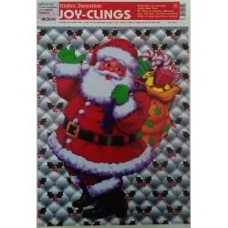 Adhesivo Papà Noel con saco 21x28cm