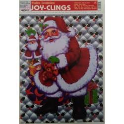 Adhesivo Papà Noel con regalos 21x28cm