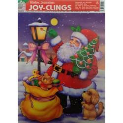 Adhesivo Papà Noel con saco 30x50cm
