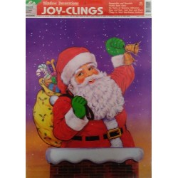 Adhesivo Papà Noel chimenea 30x50cm
