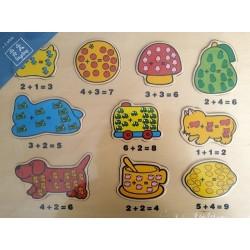 Puzzle encajable sumas 10 piezas