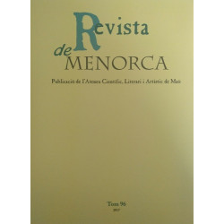 Revista de Menorca. Tom 96. Publicació de l'Ateneu Científic, Literari i Artístic de Maó