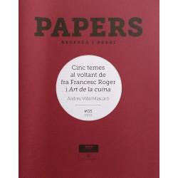 Papers 03. Cinc temes al voltat de fra Francesc Roger i Art de la cuina