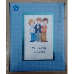 Libro comunión elegance azul