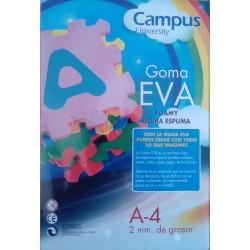 Goma Eva 12 Láminas A4