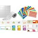 Etiquetas, adhesivos y gomets